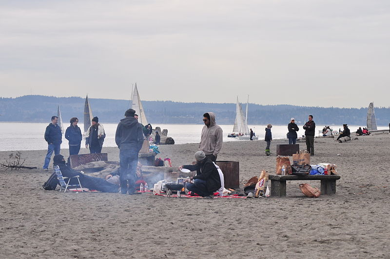 Battle Of The Bonfires Alki Beach V Golden Gardens Real Estate Galsreal Estate Gals