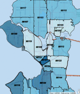 What Does Your Zip Code Say About You Real Estate GalsReal - Seattle map zip codes
