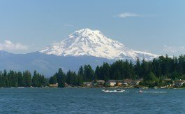 Mount Rainier and Lake Topps