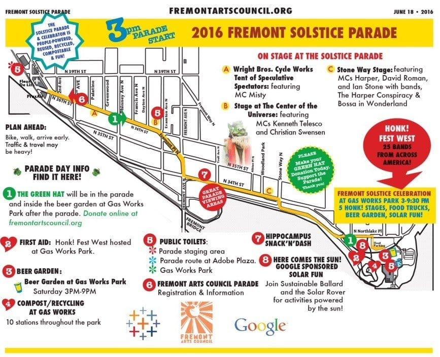 2016 Parade Map