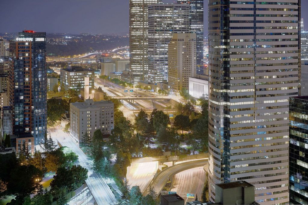 Aerial_view_of_Freeway_Park_at_night,_looking_south_from_Pine_and_9th